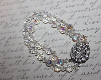 Fab 40's Two Strand Swarovski Crystal & Rhinestone Bracelet