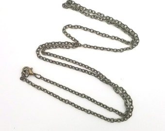 "3 Necklaces - 25"" Bronze Tone Alloy Chain Jewelry Making LT0026"