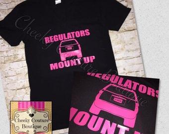 Regulators mount up mini van suv mom mom life graphic tee tank