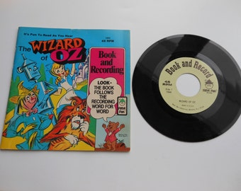 Wizard of Oz Read-Along Book and Record