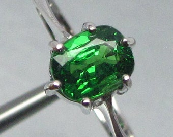 1.23 Ct Ring Natural Green Tsavorite Garnet Unheated