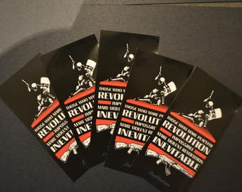 20 MLK peaceful/violent inevitable Revolution Quote Stickers -PACK of 20, Black Lives Matter, Protest, Activist