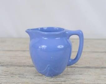 Vintage Blue Pitcher Kitchenware Blue Cream Pitcher
