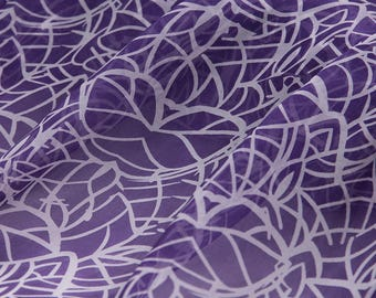 """100% fine silk chiffon fabric, purple, 55"""" beautiful fabric for Spring/Summer Dresses, blouses, skirts, Scarves, by the yard"""