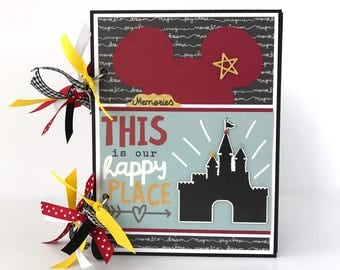Disney-like Scrapbook Album DIY Kit or Premade Vacation 6x8 Mini Album