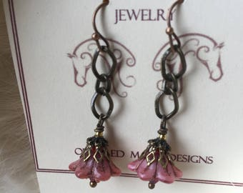 Flower Earrings,Gift For Mom,Everlasting flowers Beautiful flowers that never fade! Flower Earrings,Ships Today from California,Gift Wrapped