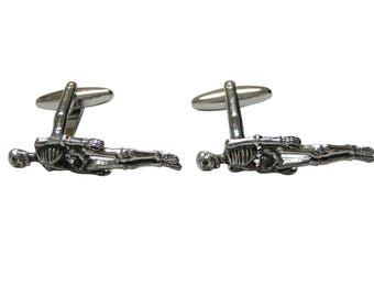 Textured Human Skeleton Cufflinks