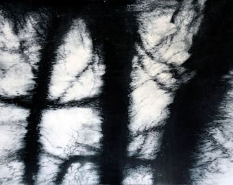 Etching, 'Mill River Ripples 2' limited edition intaglio print