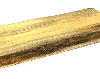 "Natural Edge Serving Board - Spalted Silver Maple - Ready to Ship - 18""x8-1/2""x1"""