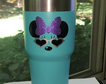 Mickey Mouse Sunglasses or Minnie Mouse Sunglasses Decal - Tumbler Decal - Car Decal