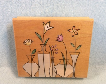 """Rubber Stamp """"Glass Vases"""" from Hero Arts"""