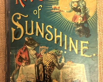 """Very Rare 1893 Edition of Hardcover Children's Book """"Rays of Sunshine"""" by McLoughlin Brothers"""