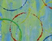 Original abstract oil painting-Affordable gift-Original art-Stocking stuffer-Modern art-Dorm room art-Contemporary-Small-Abstract art