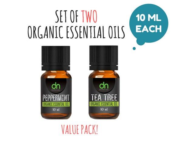 Essential Oil Set - Organic Essential Oil Starter Kit - Essential Oil Sample -  10 ml - Essential Oil Set of TWO