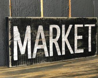 Handpainted Market Sign