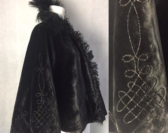 SALE! Gothic Victorian swing back cape
