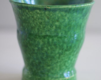 Handmade Green Pottery Vase or Planter