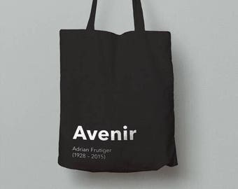 Graphic Design Tote Bag (Avenir)
