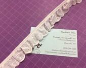 White Eyelet lace, 1 yard of 1 inch Ruffled White Eyelet lace trim for wedding, costume, bridal by MarlenesAttic - Item 7QQ