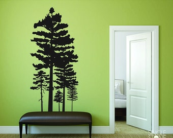 Pine Tree Group Wall Decals