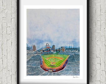 Indians Fan Gift - Cleveland indians wall Decor - Progressive Field ohio