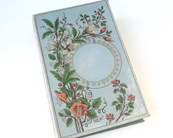Unique Guest Book, Blue Floral Wedding Sign In Book, Instant Photo Scrapbook  Album