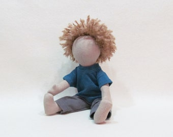 Jack doll from Holding up the Universe by Jennifer Niven, Eco-friendly hemp doll, unique cloth doll