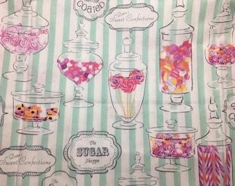 SALE! Half Yard Candy Shop Dottie's Sweet Shop Candy Print Fabric