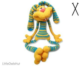 137 Knitting Pattern - Rabbit Dude Keks - Amigurumi soft toy PDF file by Pertseva Etsy