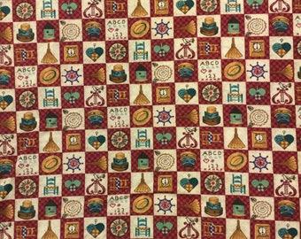 Cotton Fabric / Country Fabric / Farm Fabric / Folk Fabric / Quilting Fabric / Quilting Cotton / Patchwork Fabric