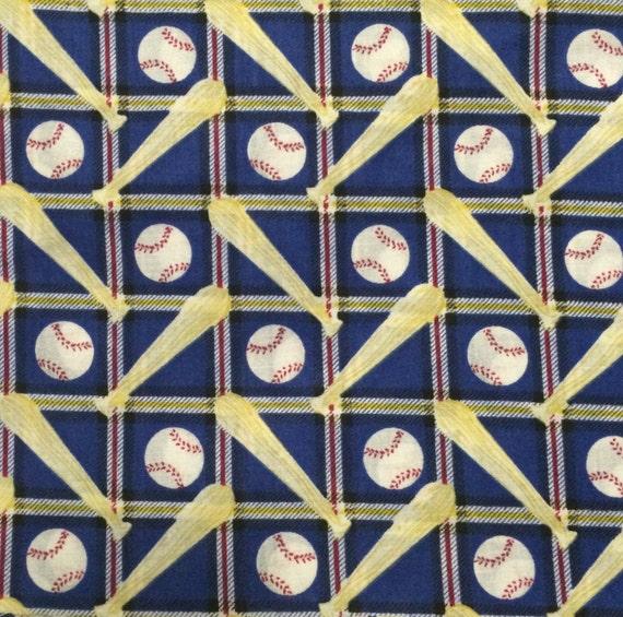 Baseball Fabric / Youth Sports Fabric / Cotton Fabric / Softball ... : baseball fabric for quilting - Adamdwight.com