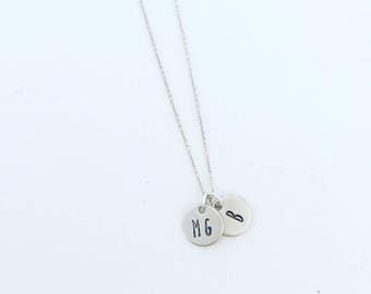 little disc necklace