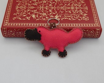 Platypus Keychain, Felt Key ring, Bag Charm, Zipper Pull, Stocking Stuffer