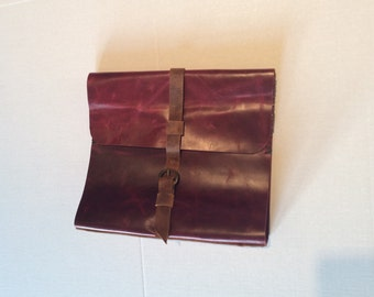 1.5 Inch O-Ring Binder Case,Burgundy Ring Binder Case,Documents Folder  Handmade Leather Diary, Journal Covers, Notebook