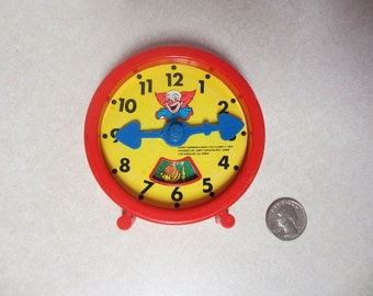 Rare Bozo the Clown Toy Clock 1984