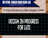 Custom Seamless Fabric Design and Clip Art for Luis