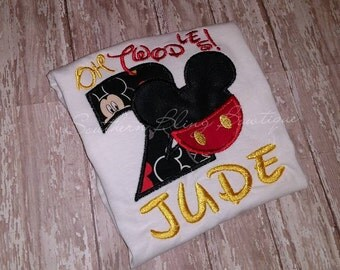 Oh Twodles Mickey Inspired Birthday Shirt