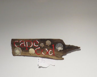 """Driftwood Cape Cod Handpainted 21"""" x 6"""""""