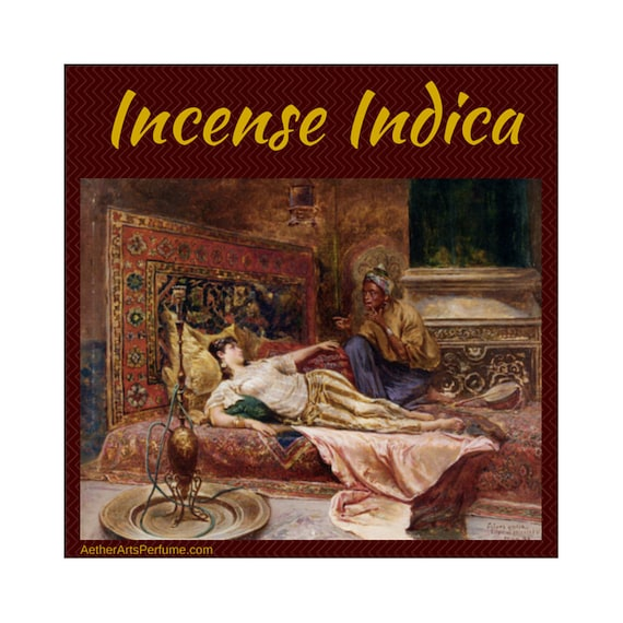 Incense Indica—a Burning Man Inspired Fragrance Oil—a Pot Perfume featuring, Incense, Gourmand & Cannabis notes, Scents from the Silk Road