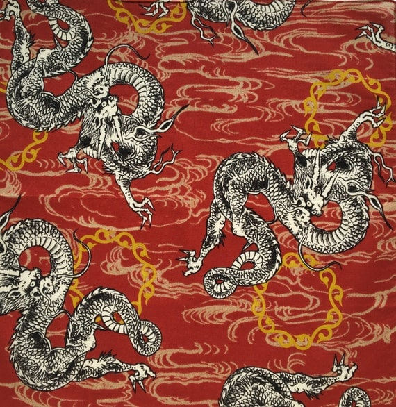 Dragon furoshiki japanese fabric martial arts furoshiki for Dragon fabric kids