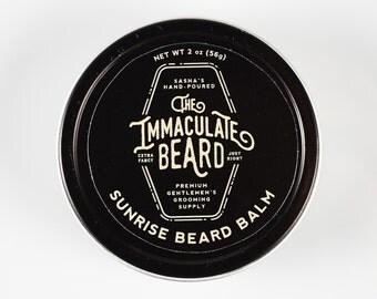 Beard Balm SUNRISE, Immaculate, Beard Conditioner, Natural, beard softener, Oak Moss, Green Clover, beard oil, beard care, Father Gift, dad