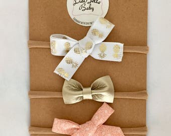 Peachy Pineapple Bow Set