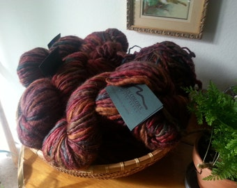 Wool/Silk blend Yarn/Hand Dyed Yarn/Bulky