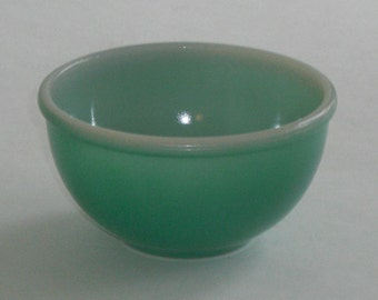 Vintage Fired On Green Fire King Bowl Smallest of Nesting Set