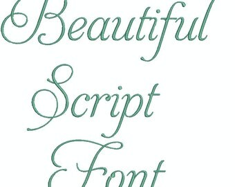 Beautiful Aphrodite Script Machine Embroidery Font,  Upper Case, Lower Case, Symbols and Numerals