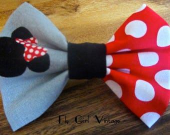 Minnie Mouse Bow Minnie Mouse Hair Bow Minnie Mouse Costume Women Minnie Mouse birthday Girls Minnie Mouse baby headband rockabilly cute