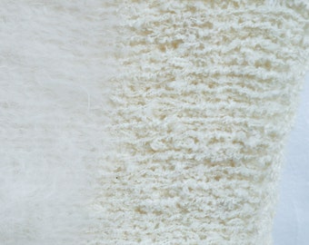 Limited edition hand knitted mohair snood