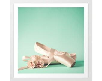 SALE, Girl nursery decor girl, ballet nursery decor, ballet art, ballet wall art, nursery print, toddler girl room decor, pink girl nursery
