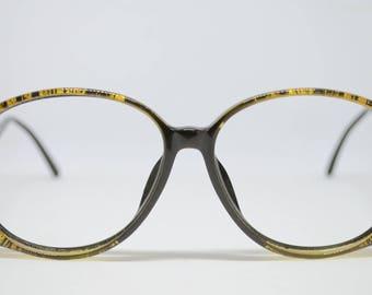 Christian Dior Designer Gold & Black Vintage Glasses (no lenses)