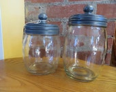 Apothecary Style Canister - Shabby Chic Coffee and Tea Set - Kettle Gray